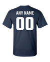 Personalized Lion Pride Navy Blue and White Adult Unisex T-Shirt