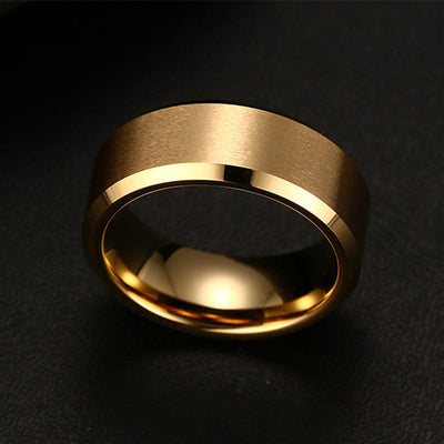 Titanium Silver or Black Men's Ring