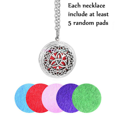 Vintage Aromatherapy Essential Oils Diffuser Locket Pendant Necklace