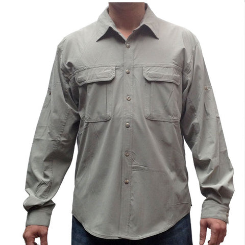 Camisa de Exploracion. Proteccion Solar & Transpirable. Quick Dry