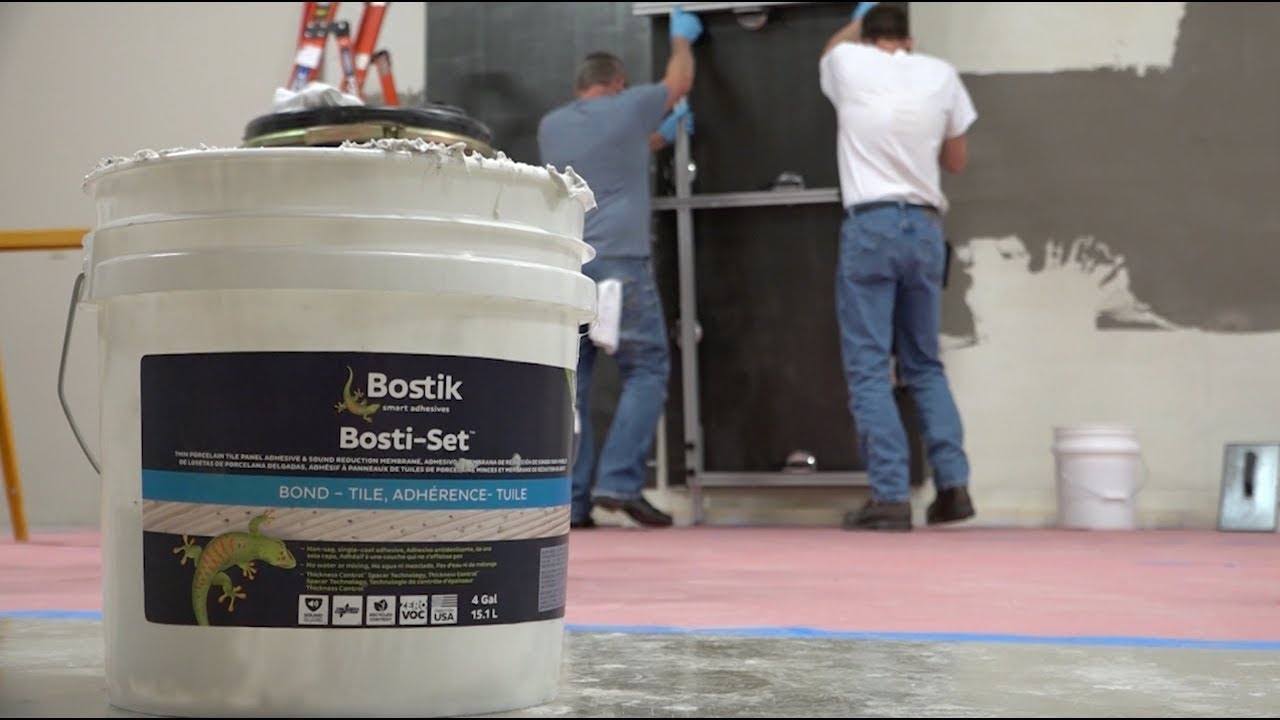 LARGE FORMAT BOSTIK BOSTI-SET INSTALLATION