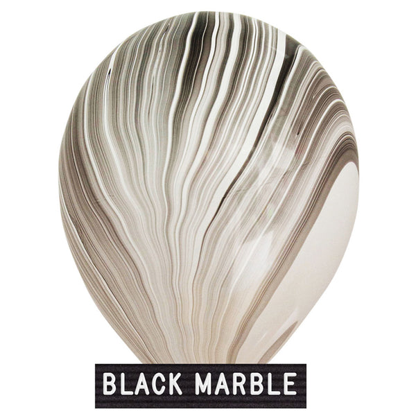 "black marble ballon 11"" latex"