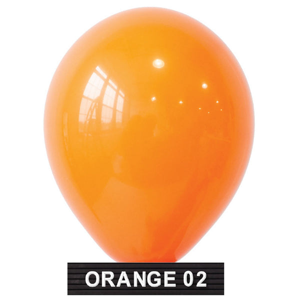 "bright orange 11"" balloons latex"