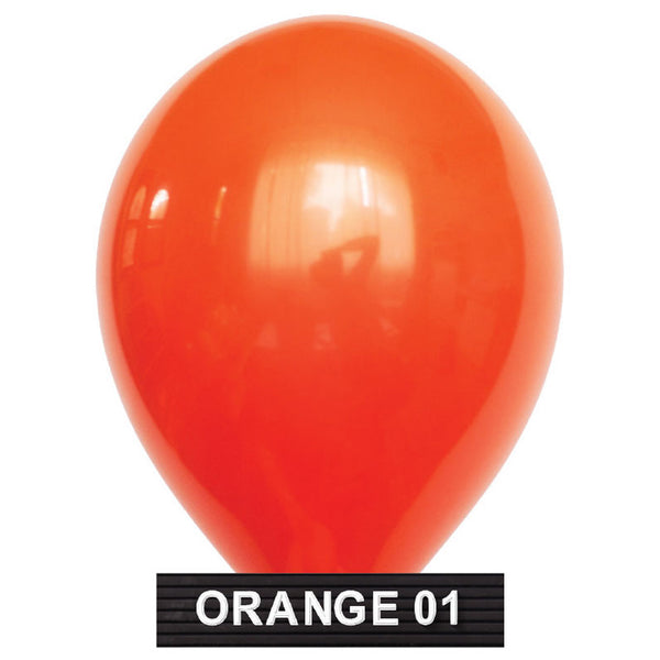 "orange balloons 11"" latex"