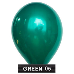 "forest green balloons 11"" latex"