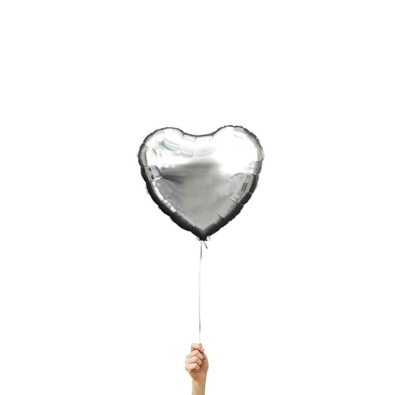 Chrome Silver Heart