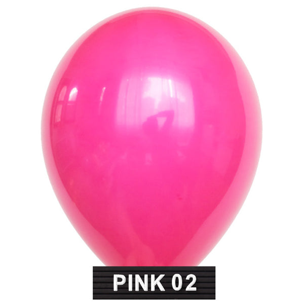 "hot pink 11"" balloons latex"