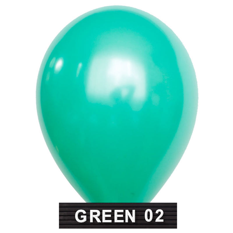 "mint green balloons 11"" latex"