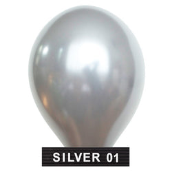 "silver 11"" balloons latex"