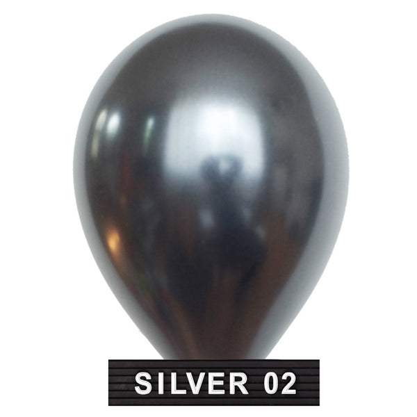 "dark silver 11"" balloons latex"