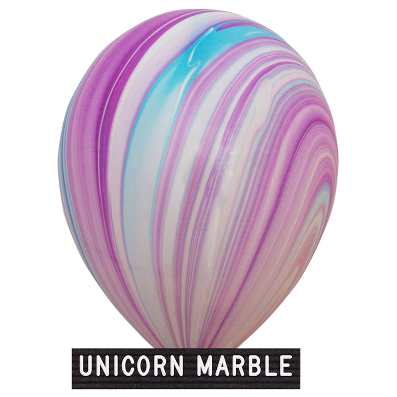 "unicorn marble balloons 11"" latex"
