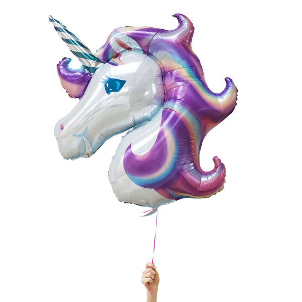purple unicorn foil balloons