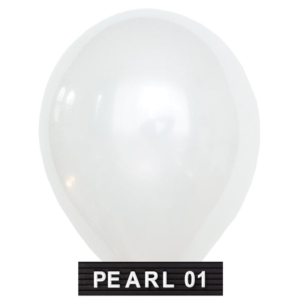 "pearl white 11"" balloons latex"
