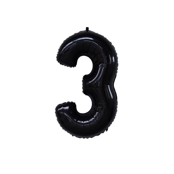 "40"" Number THREE - Black"