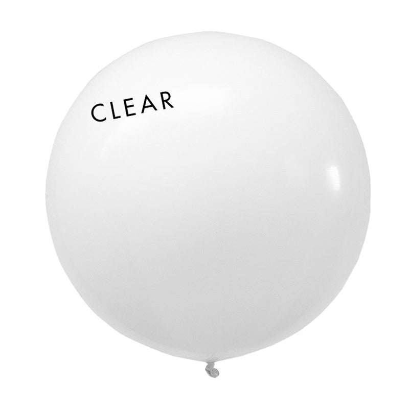 clear 3' globe balloon