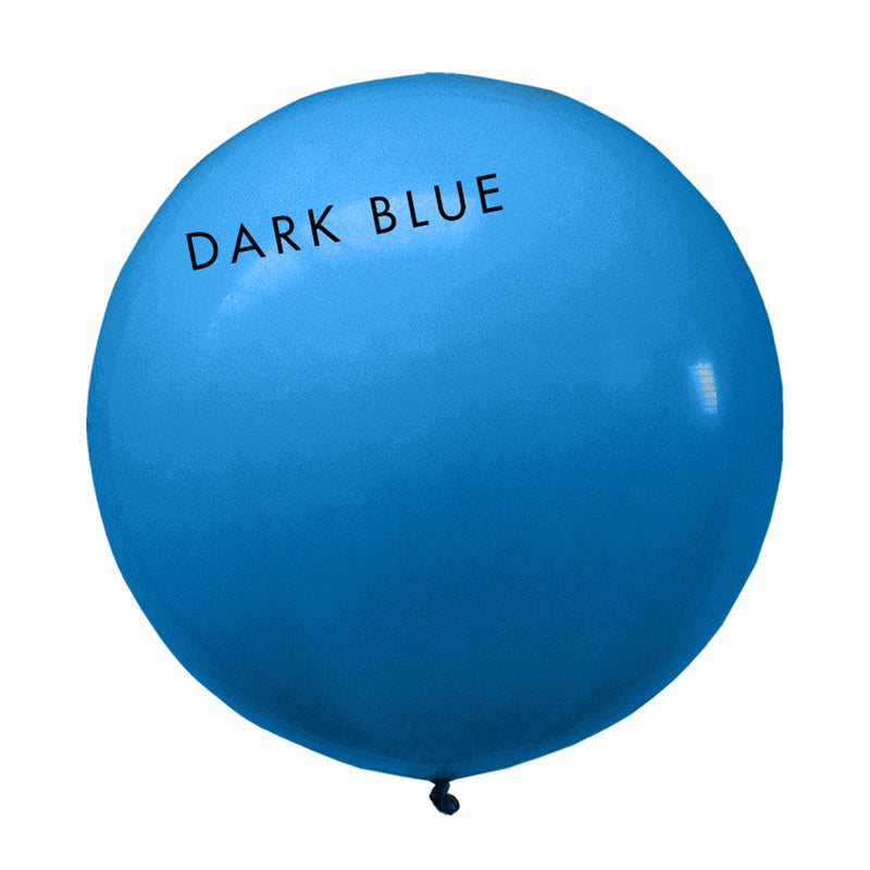 dark blue 3' globe balloon