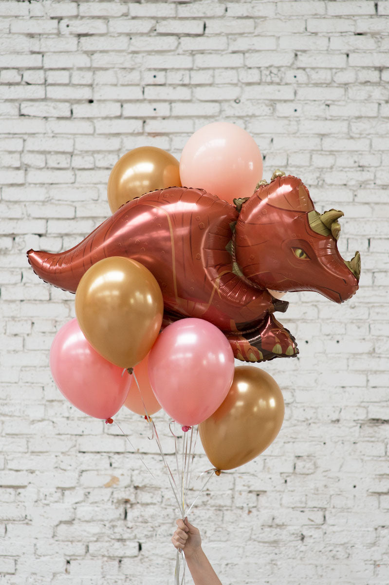 dinosaur foil balloon bouquet