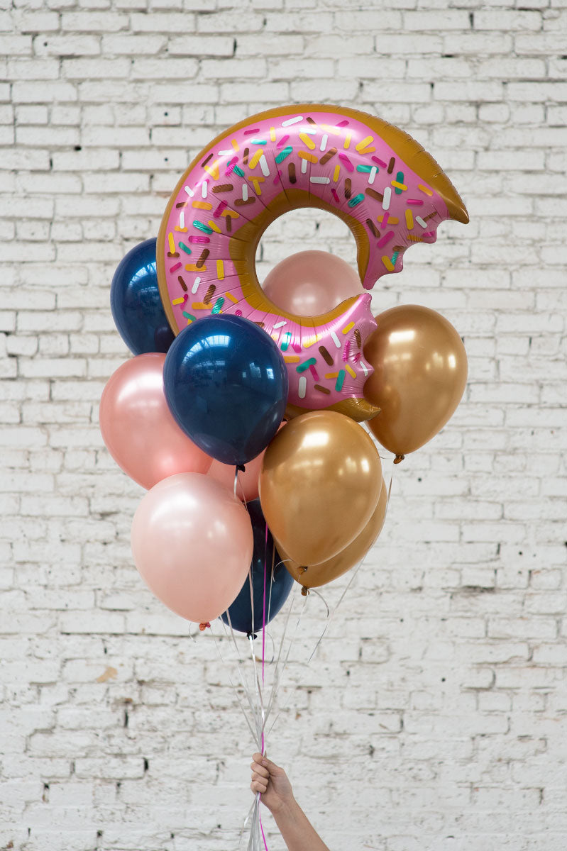 donut foil balloon bouquet