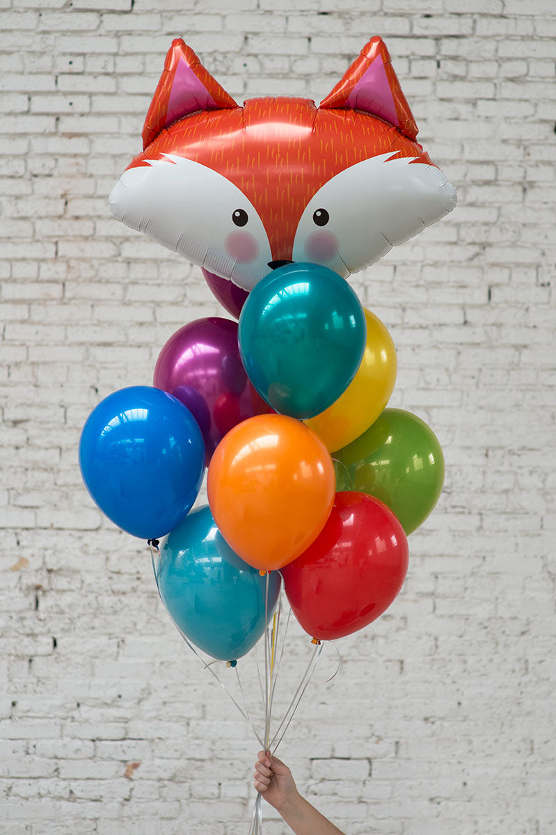 fox foil balloon bouquet