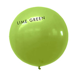 lime green 3' globe balloon