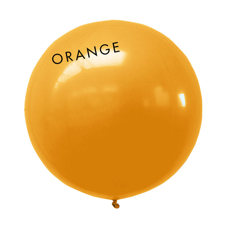 orange 3' globe balloon