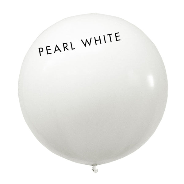 pearl white 3' globe balloon