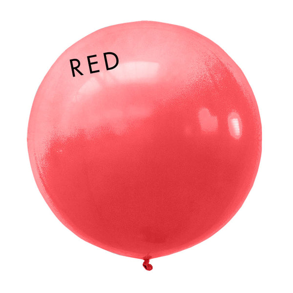 red 3' globe balloon