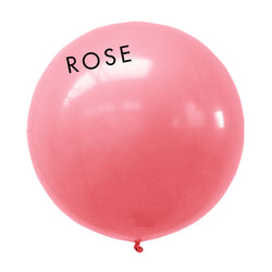 rose 3' globe balloon