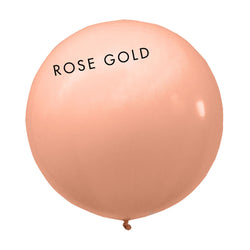 rose gold 3' globe balloon