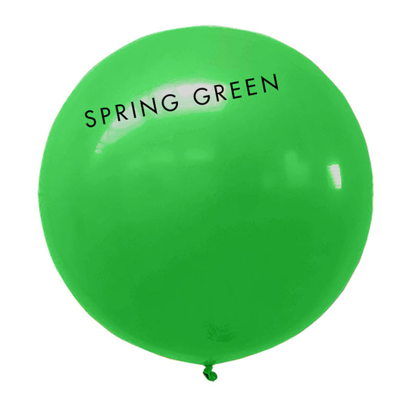 spring green 3' globe balloon