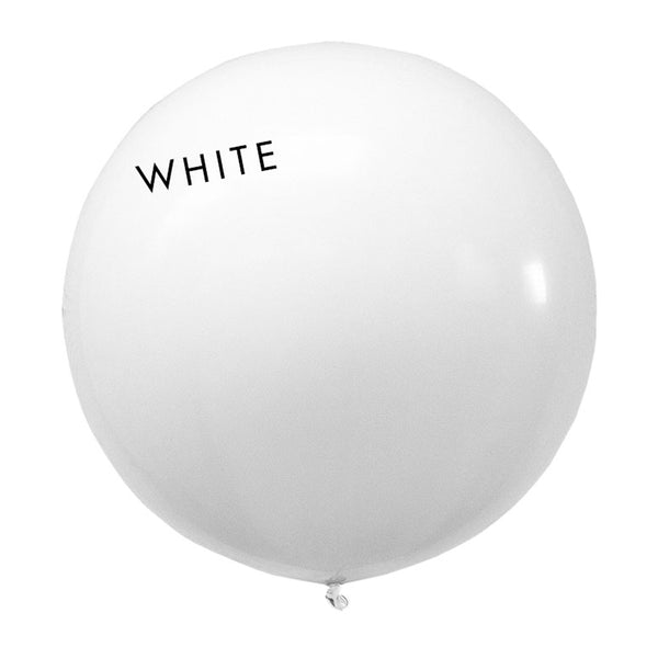 white 3' globe balloon