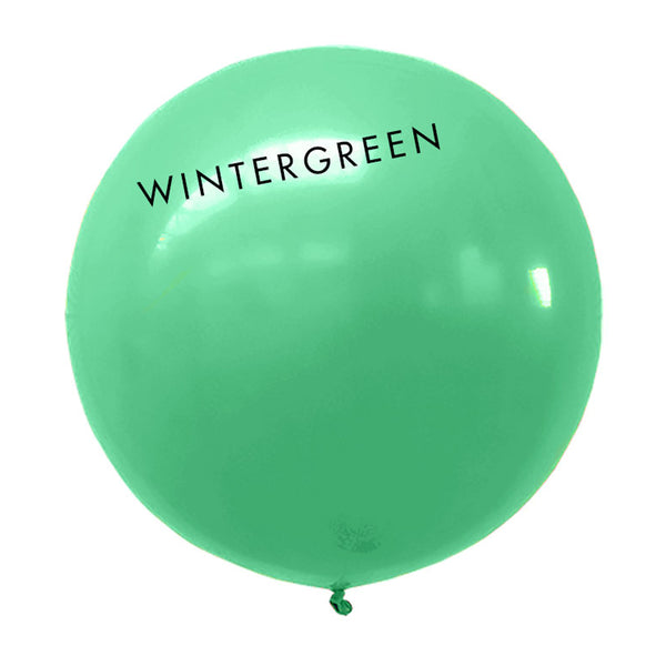 wintergreen 3' globe balloon