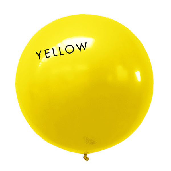 yellow 3' globe balloon