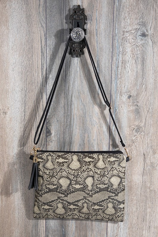 Faux snake skin Crossbody bag shoulder bag clutch - Stylish n Trendier