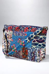 Patchwork boho chic large shoulder bag / Shoulder bag / duffel bag - The Lotus Wave