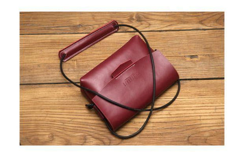 Retro vintage handmade custom leather shoulder  crossbody bag