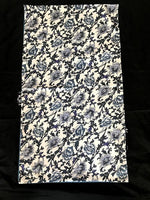 Load image into Gallery viewer, Blue white floral 100% Silk Satin smooth soft Long double fabric  Scarf with buttons