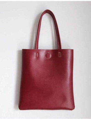 Image of New Retro vintage leather tote shopper bag