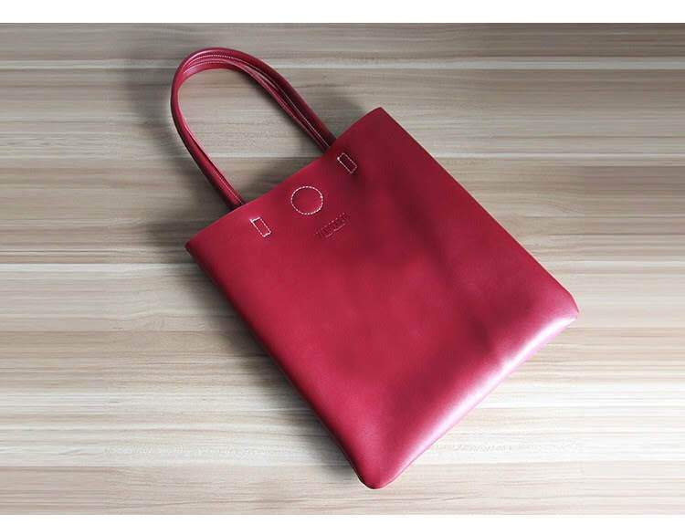 New Retro vintage leather tote shopper bag