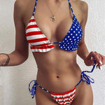 Load image into Gallery viewer, American flag Bikini bikini swimsuit bathingsuit - The Lotus Wave