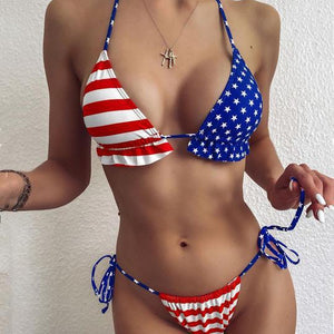 American flag Bikini bikini swimsuit bathingsuit - Stylish n Trendier