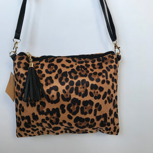 Leopard Print Faux skin Crossbody bag