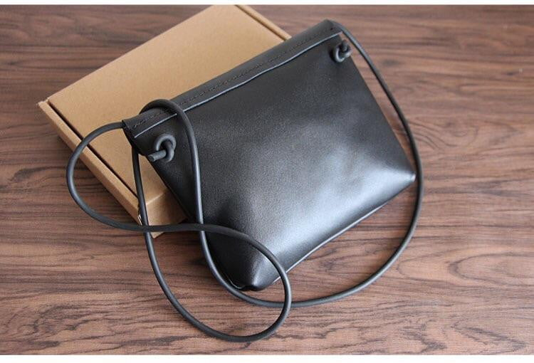 Retro vintage handmade leather shoulder crossbody bag - Stylish n Trendier