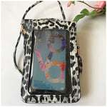 Load image into Gallery viewer, Grey black Leopard Print Cell Phone Crossbody bag - Stylish n Trendier
