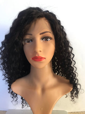 Image of Deep curly Wavy Lace. Fake scalp 18 ""
