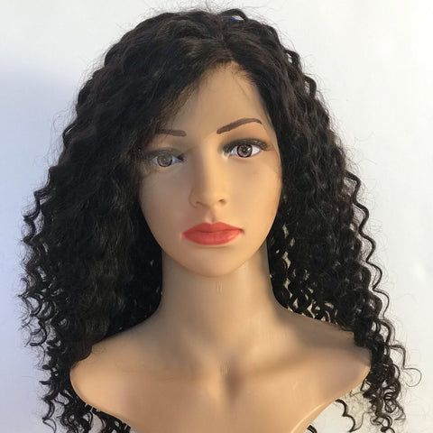 Deep curly Wavy Lace. Fake scalp 18 ""