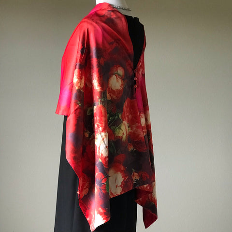 Image of 100% Silk Satin smooth soft Long Scarf with buttons