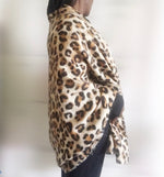 Load image into Gallery viewer, animal leopard print winter warm  blanket scarf shawl dark color