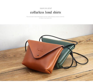 Retro vintage handmade leather shoulder crossbody bag - The Lotus Wave