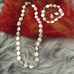 Load image into Gallery viewer, River Botton pearl earrings necklace bracelet set - Stylish n Trendier
